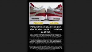 Nike Air Max, Reebok jak rozpoznać oryginalność butów? AtamanShop.pl!